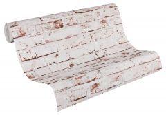 A.S. Création steinoptik Tapete New England Beige, Braun, Rot