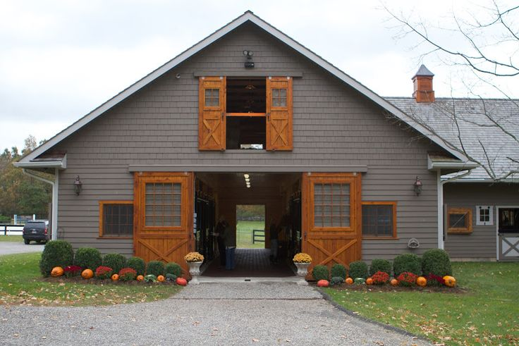 beautifulbarns: Grace Farm 10-stalls and the former home of Reed Kessler and her family. Reed was the youngest rider to represent the US on the Olympic Show Jumping Team in London and trained 6 months of the year at this 42-acre estate of rolling meadows.