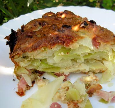 Rustic French Food, Cabbage and Galette au Chou