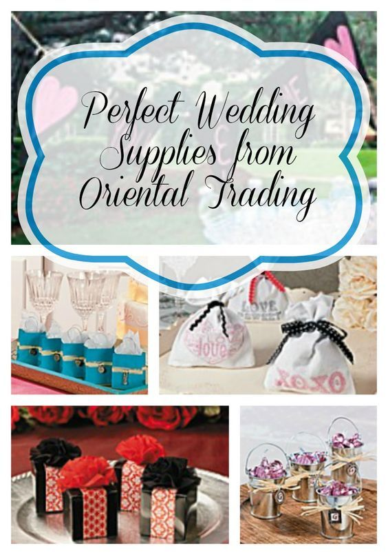 To make wedding planning easy and affordable for you, I've gathered some of the perfect wedding supplies from Oriental Trading.