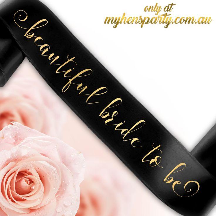 Beautiful Bride To Be Sash - Groovi