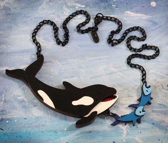 Orca Whale Hunting Necklace Ocean Collection Etsy Hunting Necklace Orca Whales Nature Necklace