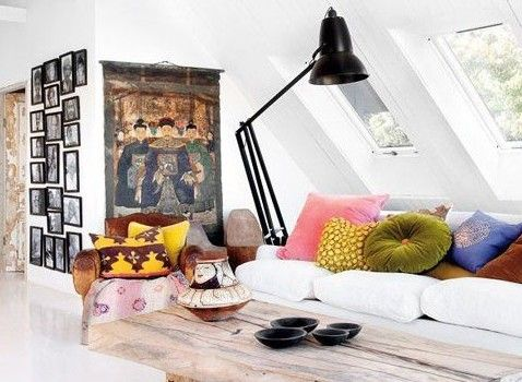 Living Room Colorful Pillows And Wooden Table Throws Black Stand Lamps White Sofa Chinese Emperor Picture Art Floral Rug This Genius Living Room Furniture Decoration Ideas Will Fascinate Your Eyes