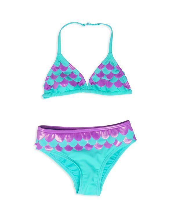 Hula Star Girls' Mermaid 2-Piece Swimsuit - Sizes 2-6X