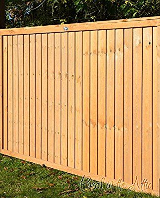 Premium Fine Sawn Vertical Closeboard Fence Panel - 1.83m Wide x 1.8m Height (Pack of 3 panels)