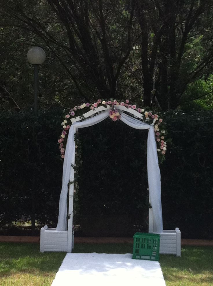 Ceremony Archway in Roses
