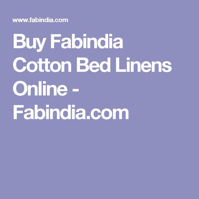 Buy Fabindia Cotton Bed Linens Online - Fabindia.com