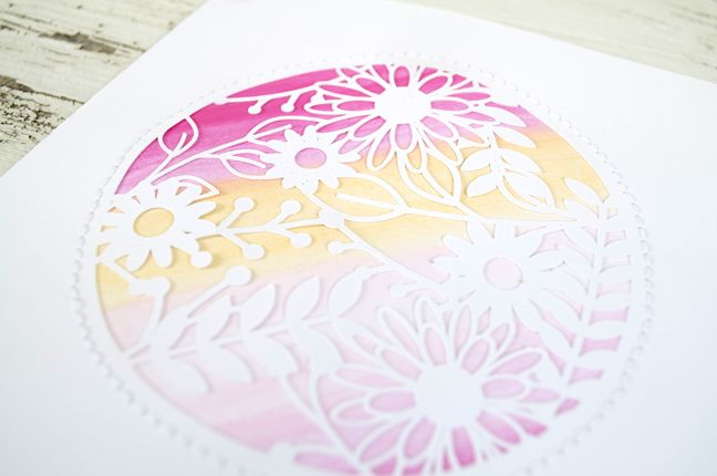 DIY watercolor Mother's Day Card using your Silhouette (& the FREE Shape of the Week!)
