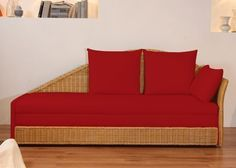 Schlafsofa Bettsofa Sofa Funktion Rattan Rot 2563. Buy now at https://www.moebel-wohnbar.de/schlafsofa-bettsofa-sofa-funktion-rattan-rot-2563.html