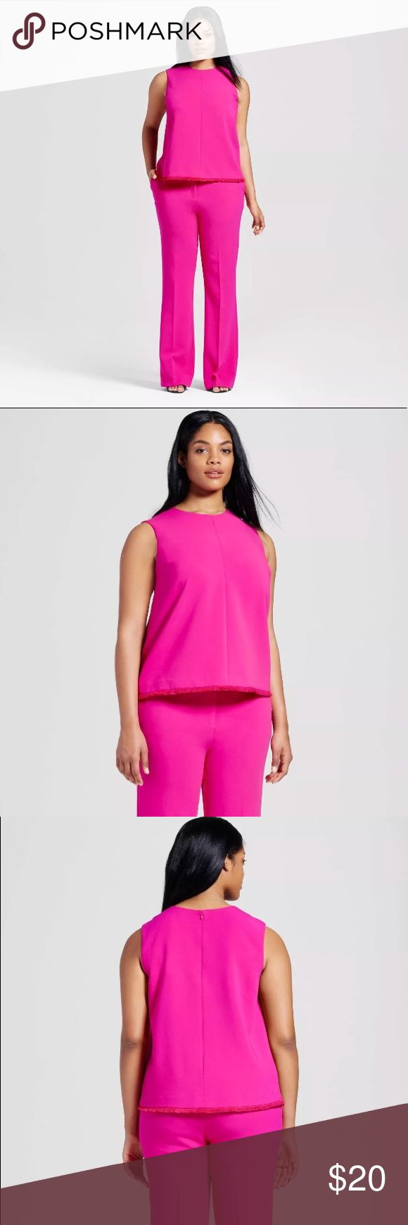 Victoria Beckham Target Fuschia Twill Plus Top This is a Victoria Beckham for target fuchsia twill tank top. new with tags: this item has original tags and shows no visible signs of wear. it's a must have wardrobe staple for any fashion forward closet. this women's fuchsia  twill tank top by Victoria Beckham for target will get you from the office to a night out without missing a beat. from a pet free smoke free home. thank you for looking , enjoy your purchase! Victoria Beckham for Target…