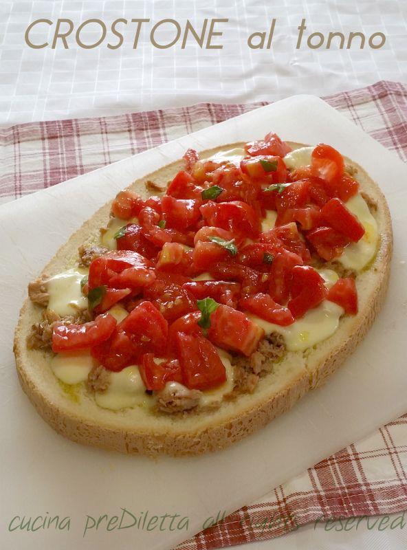 Crostone al tonno, ricetta, cucina preDiletta