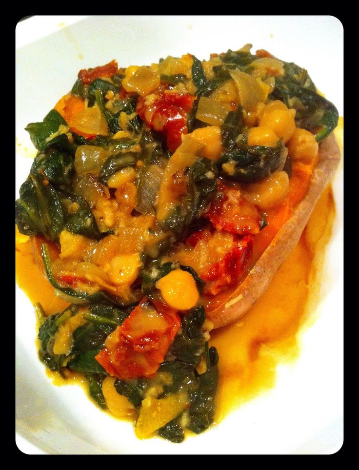 Braised Coconut Spinach and Chickpeas With Lemon...new healthy recipes ...
