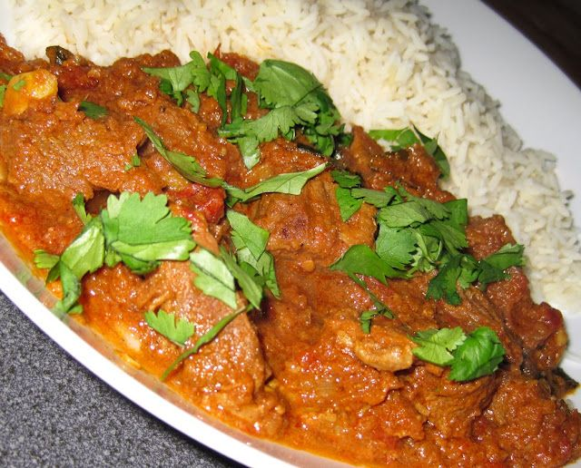 Gordon Ramseys Spicy Beef Curry  I substituted yogurt for zero fat and use rapeseed oil in the recipe