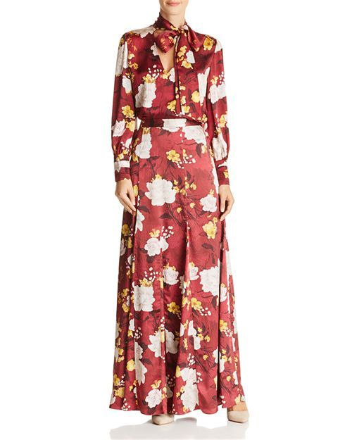 cd20eb6666a5b5 Crogan Floral Tie-Neck Silk Top   Athena Silk Maxi Skirt  Bloomingdales  Alice