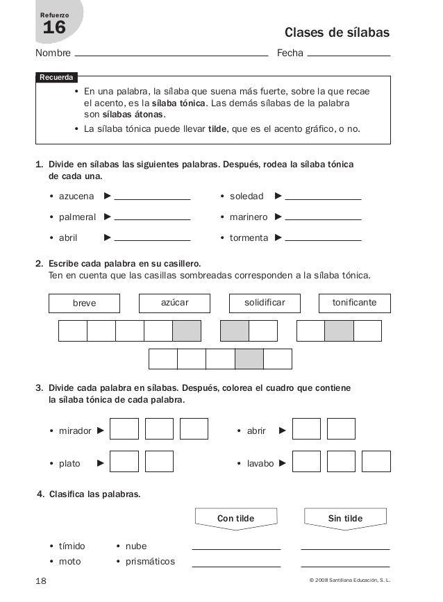 Lengua repaso y ampliación 3º primaria Santillana