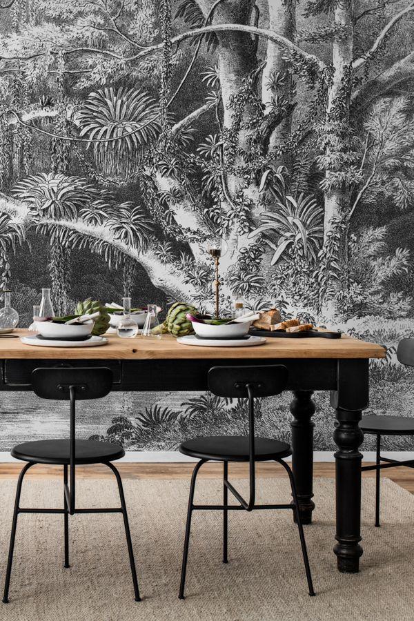Vintage Scenery Mural In 2020 Mural Interior Design Dining Room Wall Murals
