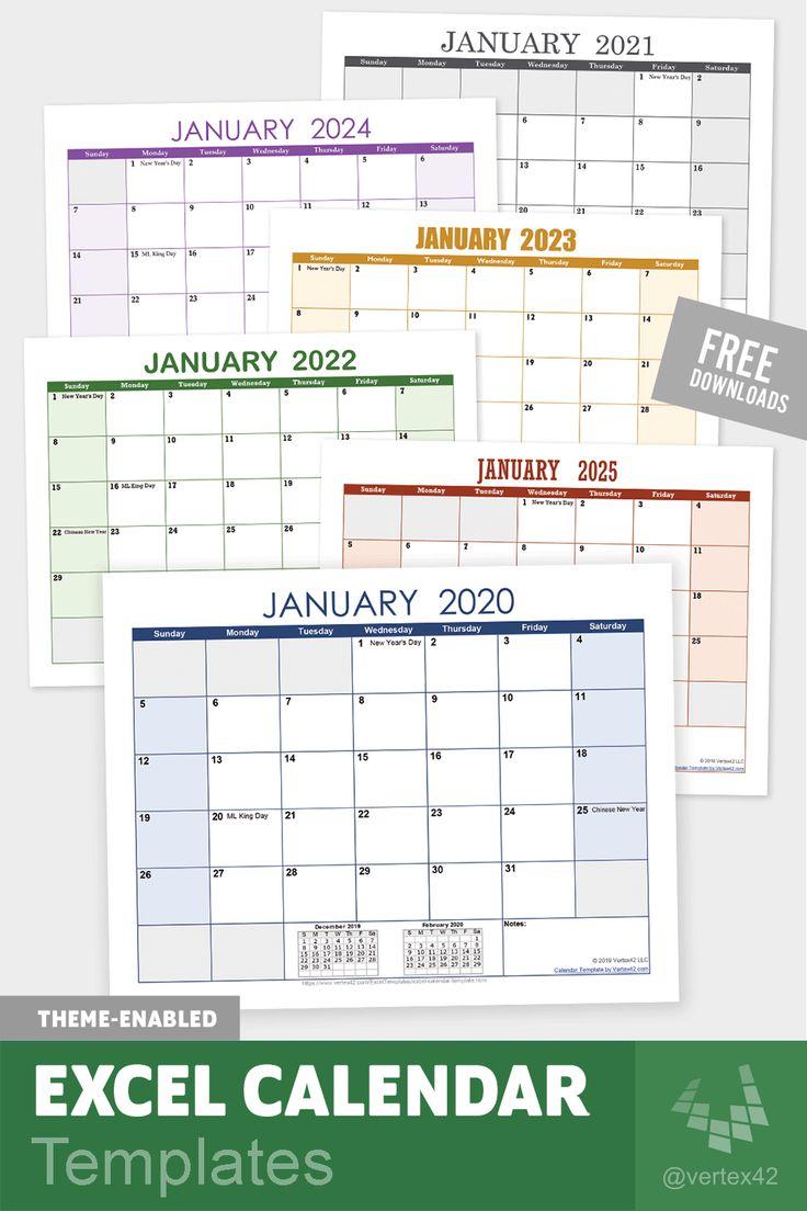 calendar Excel templates Download free Excel Calendar
