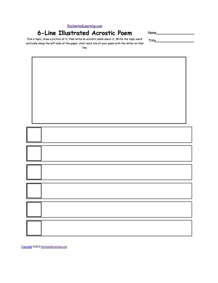 Make Your Own Acrostic Poem   Acrostic Poems plus Generate Your Own Poetry Worksheets ...