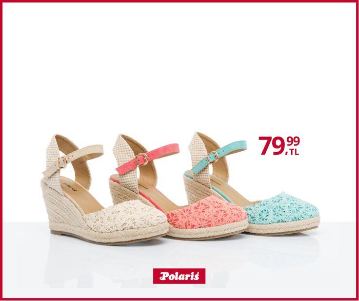 Bu sezon, dolgu topuklar ile yazın ayaklar çok daha rahat.. #fashionable #newseason #yenisezon #ilkbaharyaz #springsummer #style #stylish #polaris #polarisayakkabi #shoe #shoelover #ayakkabı #shop #shopping #women #womanfashion #ss15 #summerspring