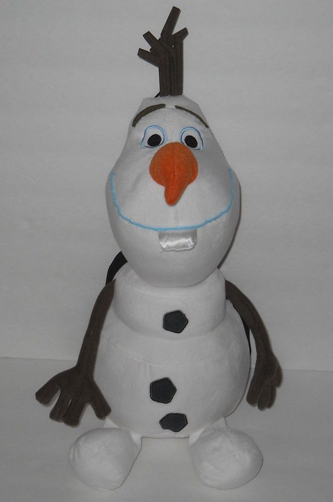 "Disney Frozen Olaf Plush Backpack Stuffed Snowman Body Toy Kids Tote 16"" #Disney"