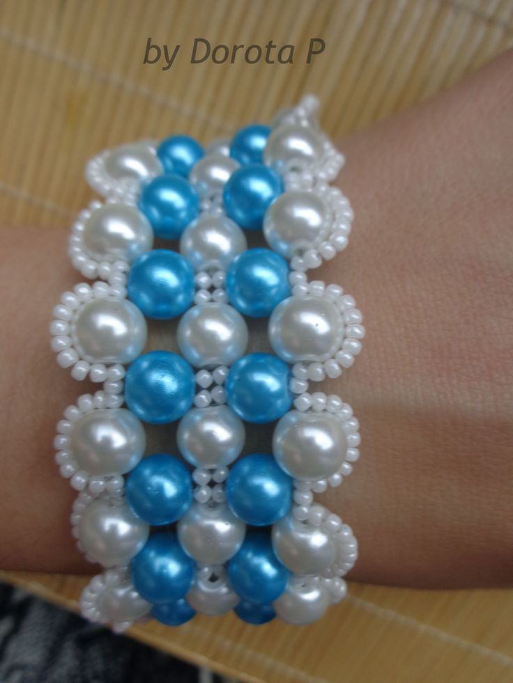 blue & white perl