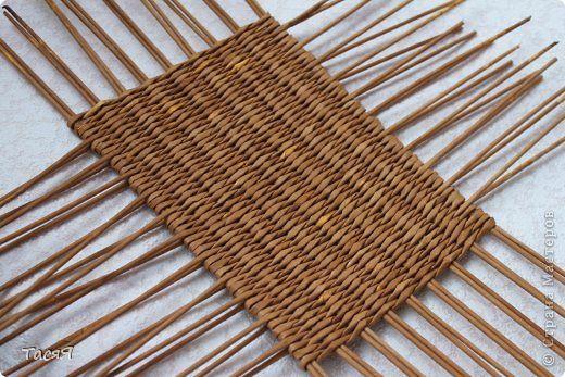szögletes alap Поделка изделие Плетение