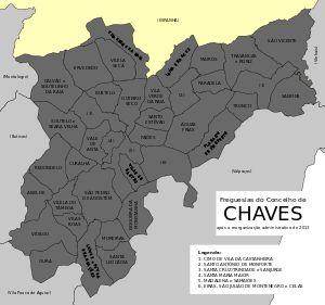 Freguesias do concelho de Chaves