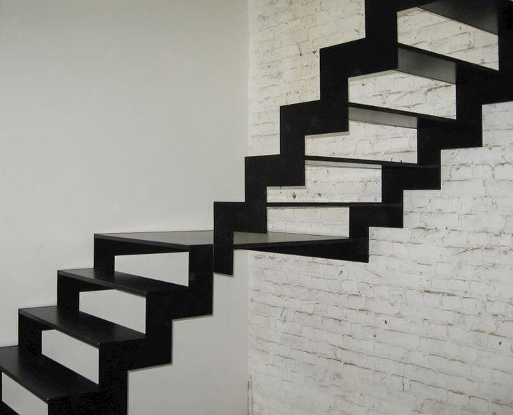 Open stalen trap van Genico