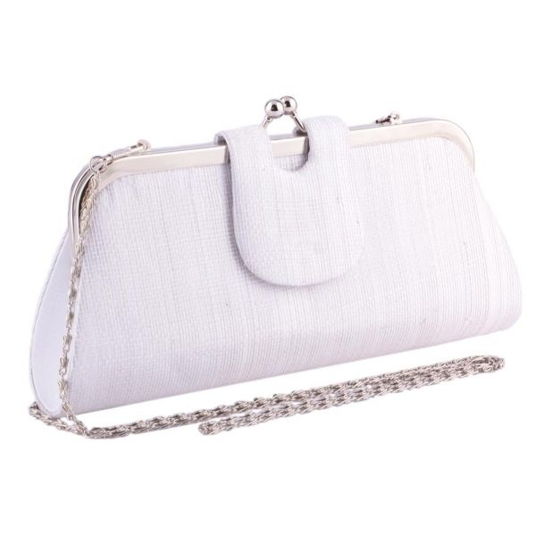 Pochette Cérémonie Bulle en Sisal Blanchi Le choix #mariage #mariee sur votre boutique Headwear www.hatshowroom.com #mode #fashion #chic