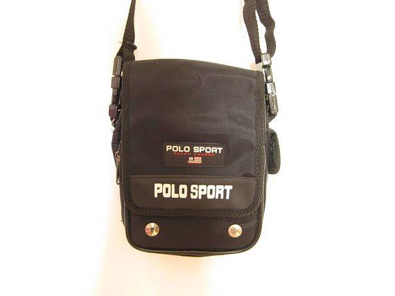 90s black POLO sport Ralph lauren  SMALL mini miniature