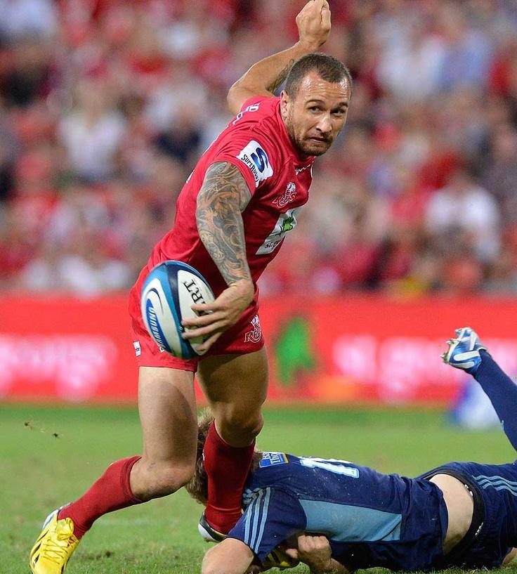 Queensland Reds fly-half Quade Cooper prepares to pass
