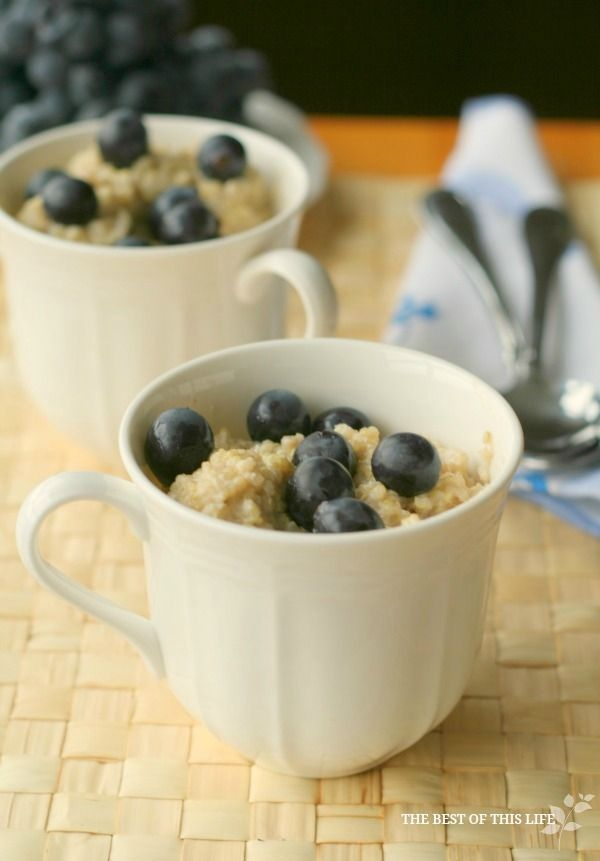 High Protein Breakfast Quinoa by The Best of this Life  Blueberries only OK for after two weeks.