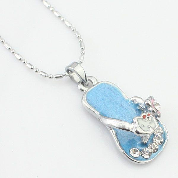 Collier de diamants de personnages de dessin animé bleu