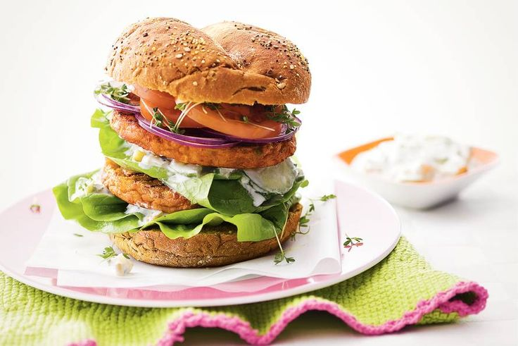 Rijkbelegde groenteburger - Recept - Allerhande