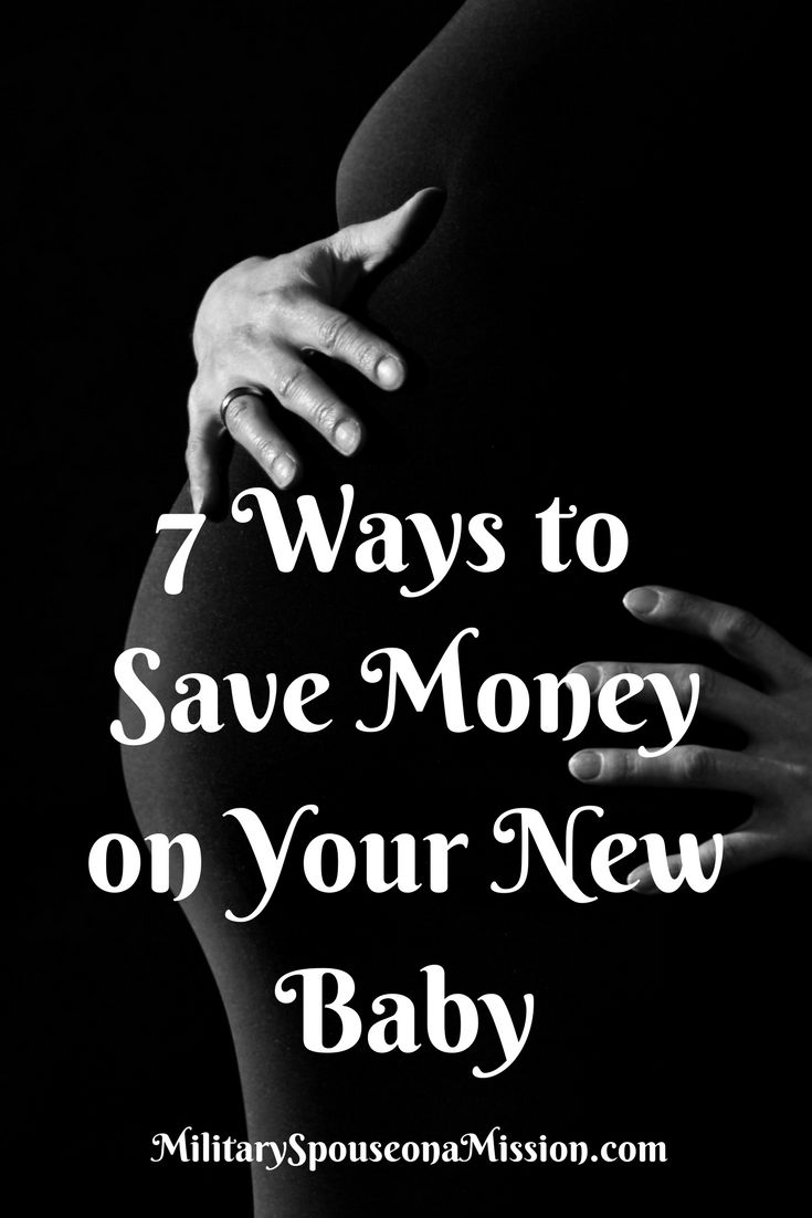 Seven ways to save money on your new baby