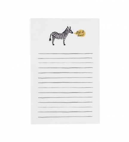 "From Rifle Paper Co., Zebra ""Get it Done"" Notepad"