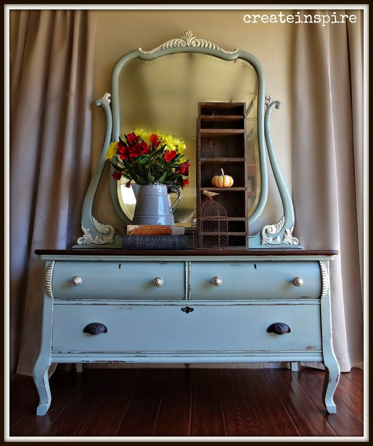 {createinspire}: Antique Lowboy W/ Mirror