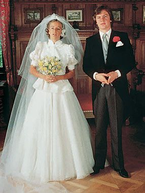 Wedding photo of Prince Ernst August of Hanover and his first wife, Chantal Hochuli.
