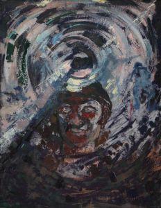 Słonko w kopalni Edeltrauda Jerominek (1943 - 1999) 1991 olej, płyta pilśniowa