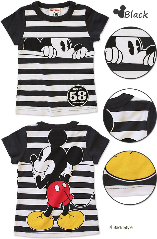 Mickey Mouse fron/back toddler tee