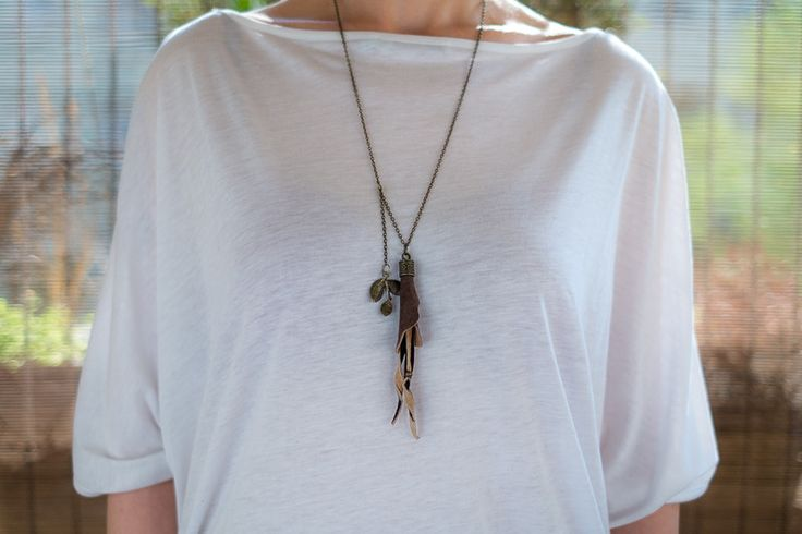 Long Necklaces – Skórzany wisiorek 02 – a unique product by AB-art-studio on DaWanda
