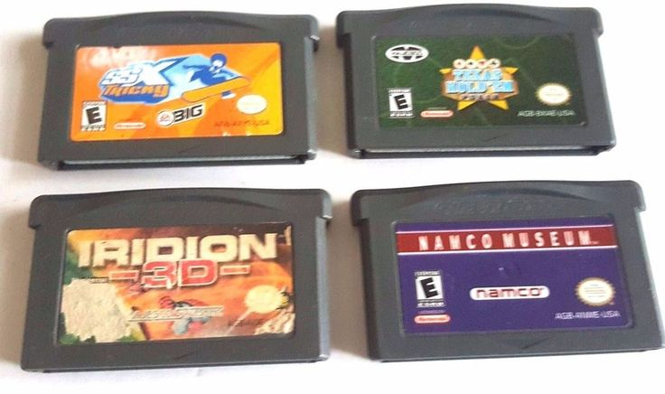 4 Gameboy Advance Games Lot GBA SP ~ NAMCO MUSEUM IRIDION 3D SSX TRICKY TEXAS