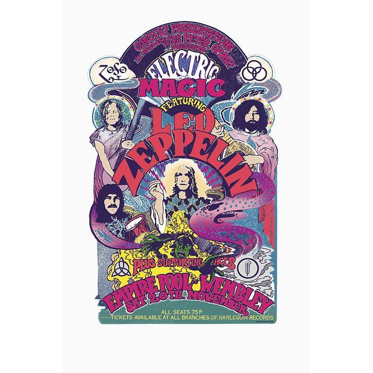 - dibujo delantero  - cuello redondo  - manga corta  La banda de hard rock Led Zeppelin cambió el mundo desde 1968 a 1980. Podrás enseñar al resto tu devoción con esta camiseta Electric Magic.