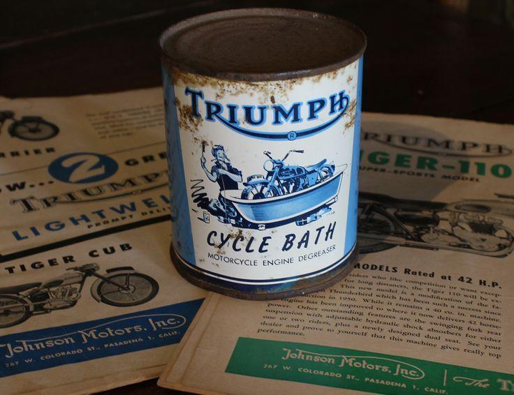 Johnson Motors Inc Vintage Triumph Cycle Bath Our