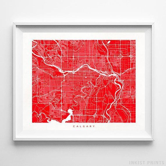 24 Best Canada Street Map Wall Art Print By Inkist Prints
