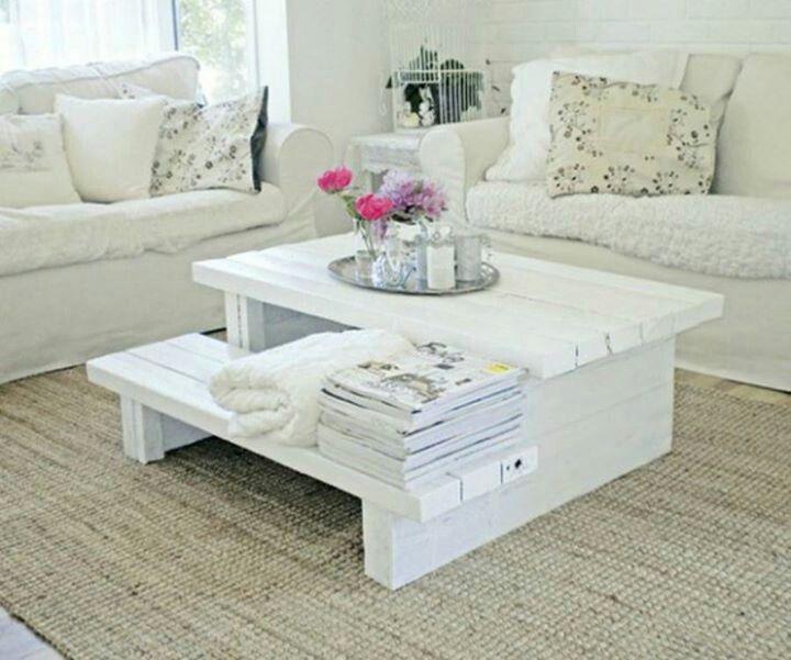 Idea para mesa con palets reciclando ideas pinterest for Cute coffee tables
