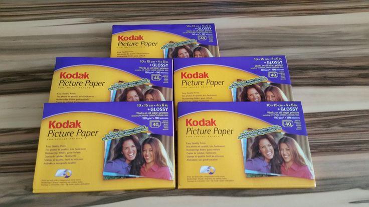 Kodak Fotokarten,200 Blatt,10x15 cm,für 400 Fotos,190mg/m2,randlos beidseitig