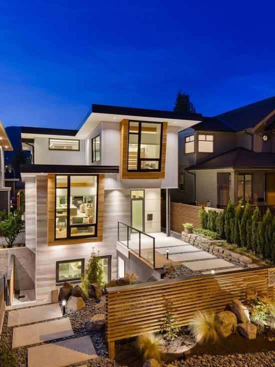 Beautiful Exterior Home Design Trends: 71 Contemporary Exterior Design Photos