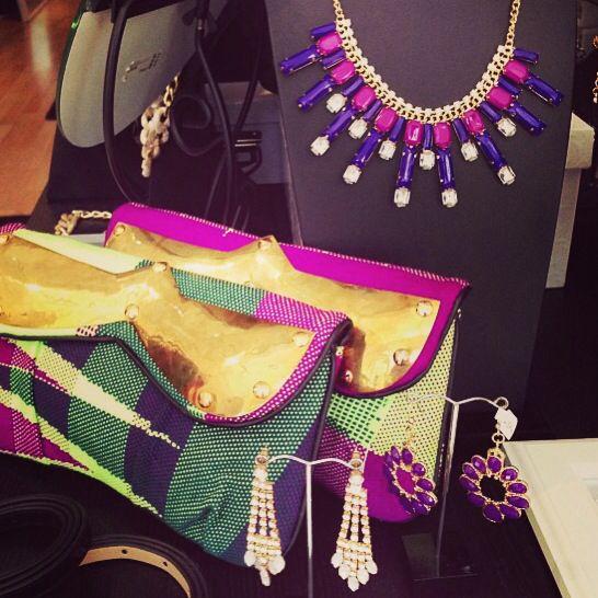 Emi & Eve #Saori woven clutches at Polkadot Boutique. $110