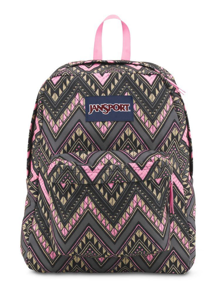 New colorful, tribal, pink SuperBreak backpack exclusively on JanSport.com.